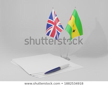 United Kingdom and Sao Tome and Principe Flags Stock photo © Istanbul2009