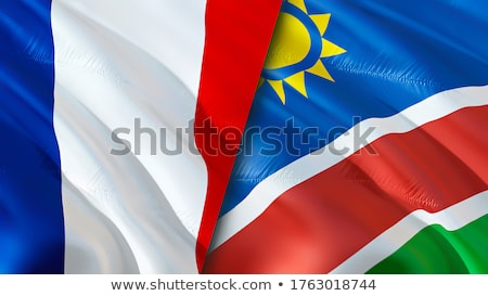 France and Namibia Flags Stock photo © Istanbul2009