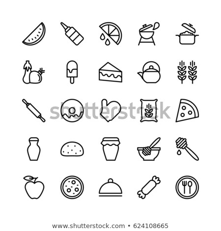 apple jam jar line icon stock photo © rastudio