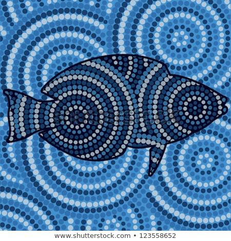 аннотация рыбы точка Живопись вектора Сток-фото © piccola
