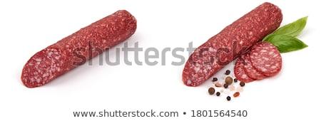száraz · hús · vékony · szeletek · sonka · marhahús - stock fotó © Digifoodstock