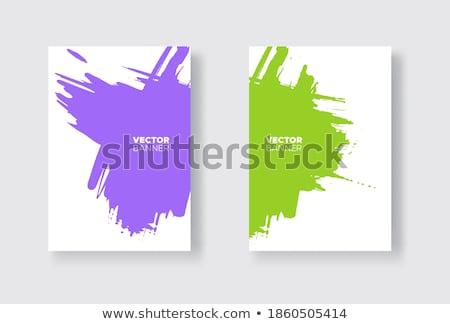 Paars inkt illustratie witte verf kunst Stockfoto © bluering