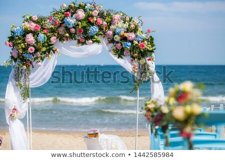 Wedding arch decorated with flowers Stock photo © m_pavlov