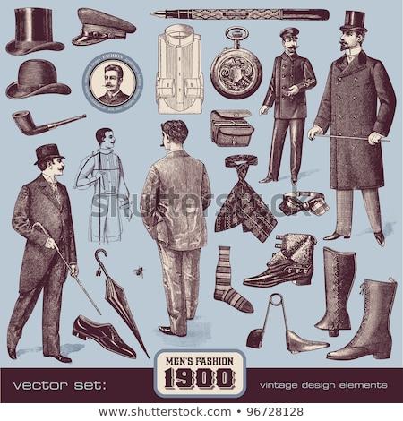 Mens vintage hat  Stock photo © OleksandrO