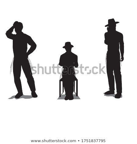 man silhouette in anxious pose Stock photo © Istanbul2009