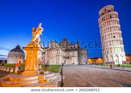 The Leaning Tower of Pisa and cathedral at dusk Stock photo © Digifoodstock
