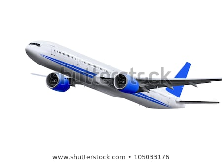 commercial plane on white background Stock photo © ssuaphoto
