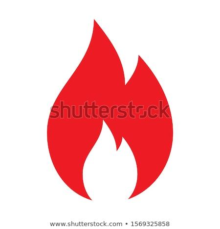 Fuego símbolo triángulo esotérico negro arte Foto stock © blackmoon979