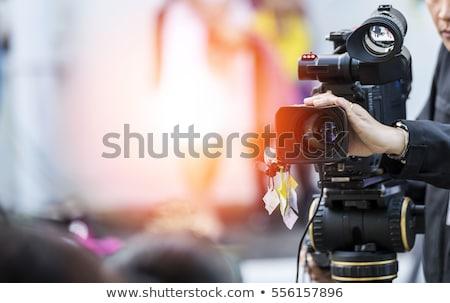 homem · câmera · preto · seis · mão · cabelo - foto stock © gregorydean