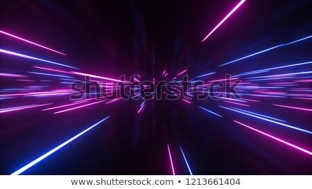 Neon horizont retro 1980-as évek digitális tájkép Stock fotó © solarseven