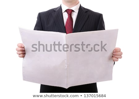 Stock photo: Man reading newspaper with the headline Local News