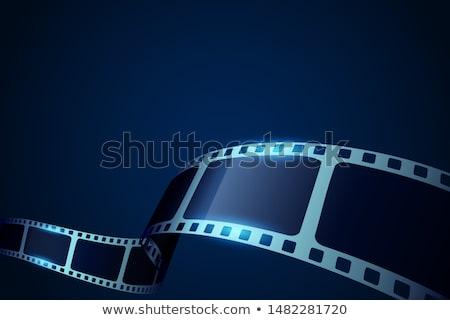 Bioscoop 3D filmstrip ontwerp film zwarte Stockfoto © SArts