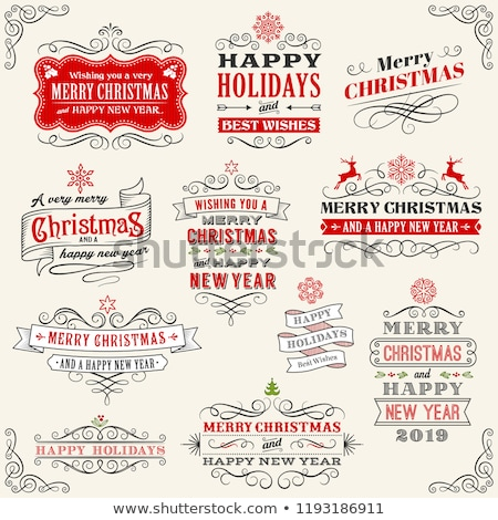 Frame with drawn snowflakes layered Stock photo © SwillSkill