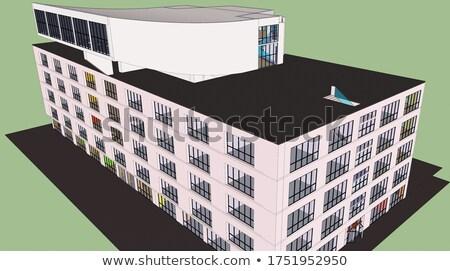 Building design for hospital Stock photo © bluering