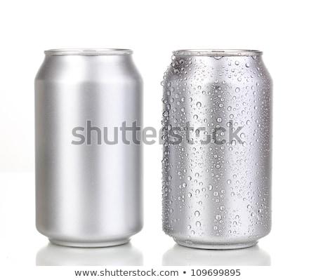 Beber pueden aluminio aislado blanco metal Foto stock © kayros