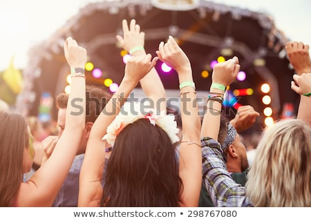 Stockfoto: Muziekfestival · creatieve · vector · man · spelen · muziekinstrument