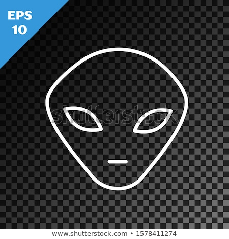 alien in transparent dark Stock photo © romvo