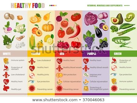 диетический продовольствие рыбы фрукты здоровья Сток-фото © M-studio
