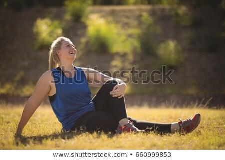 幸せ 女性 リラックス 草 ブート ストックフォト © wavebreak_media