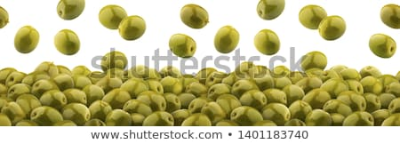 Gemarineerd groene olijven kom witte houten Stockfoto © Digifoodstock