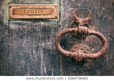 Weathered old rusty mail slot letterbox Stock photo © stevanovicigor