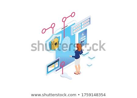 File Card with Private. 3D. Stock photo © tashatuvango