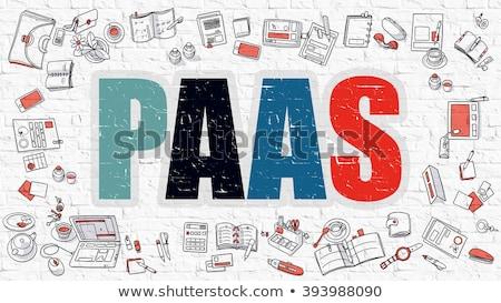 PAAS Concept with Doodle Design Icons. Stock photo © tashatuvango