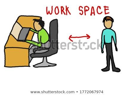 бизнеса интеллект Cartoon красный слово эскиз Сток-фото © tashatuvango