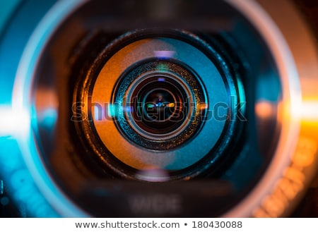 Reporting on Digital Camera Lens . Closeup. Stock photo © tashatuvango