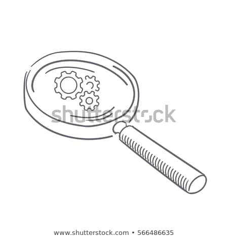 Data Processing through Magnifying Glass. Doodle Design. Stock photo © tashatuvango