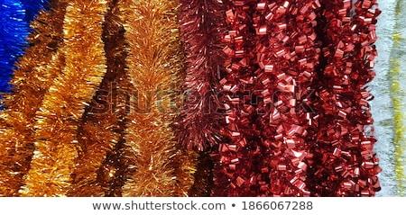 Natal pinheiro luzes transparente forma Foto stock © cienpies