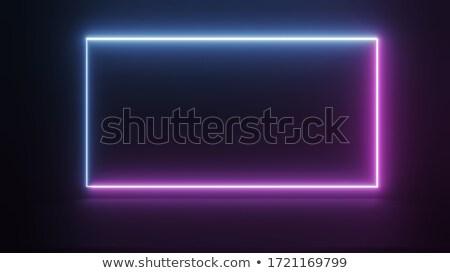 Fényes neon keret arany szórakoztatás felirat Stock fotó © oxygen64