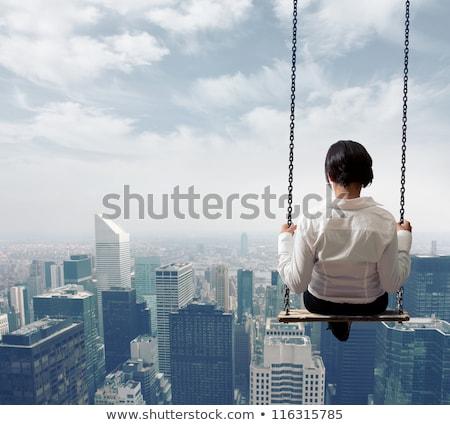 iş · kariyer · kadın · yalıtılmış · beyaz · esmer - stok fotoğraf © rastudio