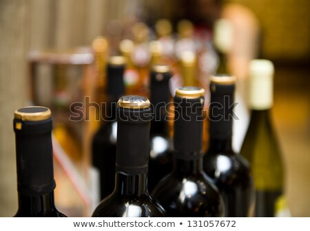 industrial production shot with champagne bottles stock photo © dashapetrenko