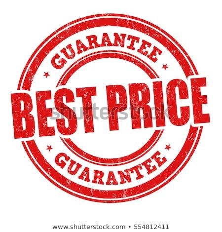Beste prijs geïsoleerd vector sticker witte detailhandel Stockfoto © studioworkstock