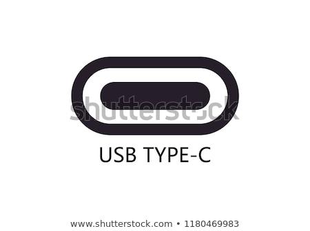 Usb тип ноутбука кабеля власти цифровой Сток-фото © Macartur888