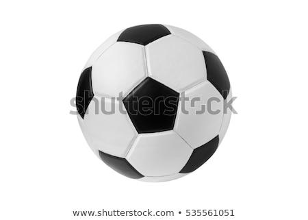 Stok fotoğraf: Futbol · topu · oynama · futbol · beyaz · futbol · spor