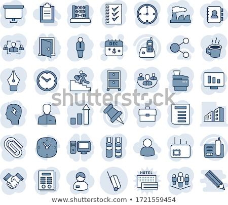 Symbol Kalender Büroarbeit Gliederung Stil Stock foto © ussr