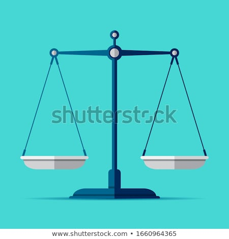 Stockfoto: Blue Scales And Libra Icon Vector Illustration