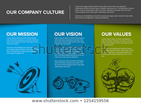 Company profile template with mission, vision and values Stock photo © orson