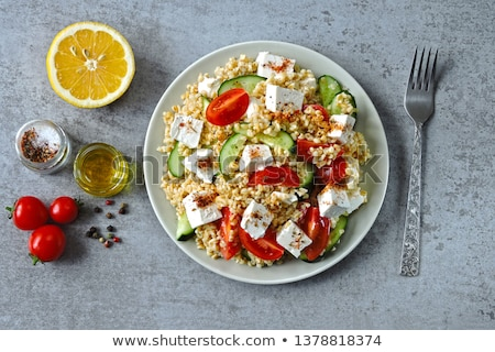 Bowl Of Lebanese Salad Stock photo © mpessaris