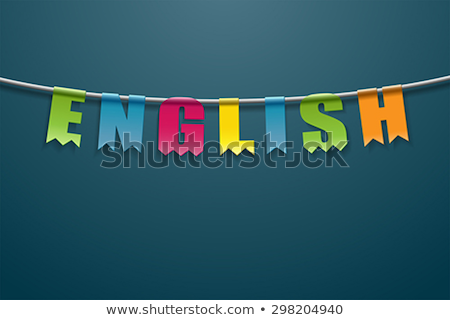Spell English word flag Stock photo © bluering