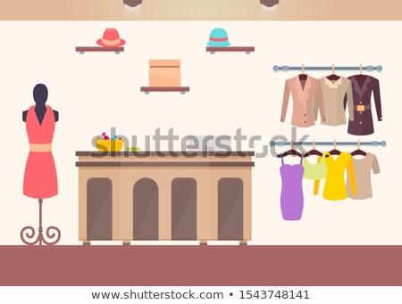 illusztráció · kellékek · ruha · cipők · ajkak · szemek - stock fotó © robuart