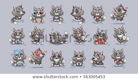 волка · счастливым · Cartoon · улыбаясь · собака - Сток-фото © cthoman