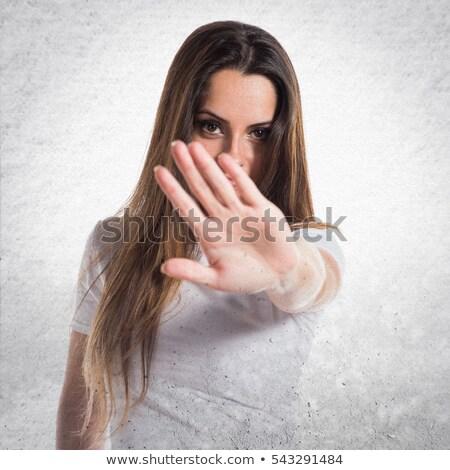 остановки · Сексуальные · домогательства · женщину · знак · остановки · служба - Сток-фото © andreypopov