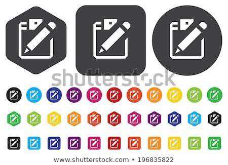 Kolorowy placu ramki ikona podpisania wektora Zdjęcia stock © blaskorizov