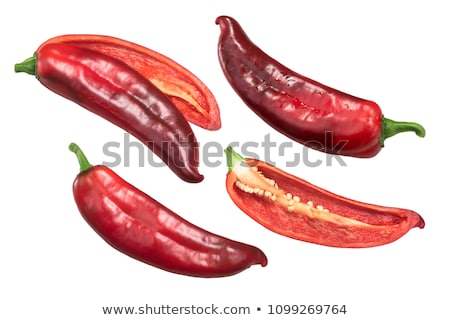 Red Hatch chile halved, top Stock photo © maxsol7
