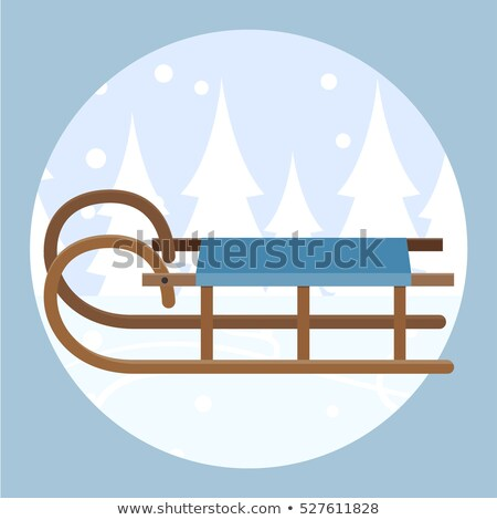 Houten vector retro klassiek winter slee Stockfoto © pikepicture