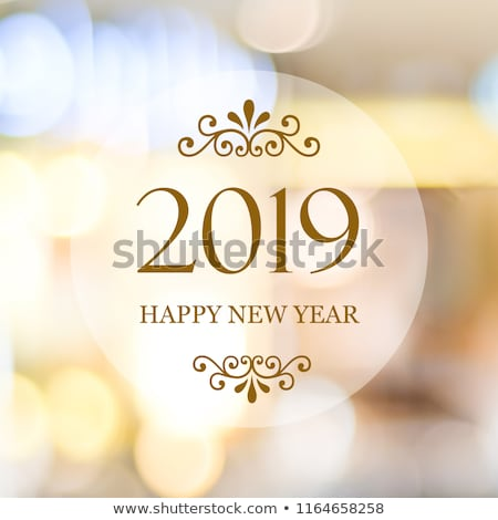 beautiful 2019 happy new year sparkles and glitter background Stock photo © SArts