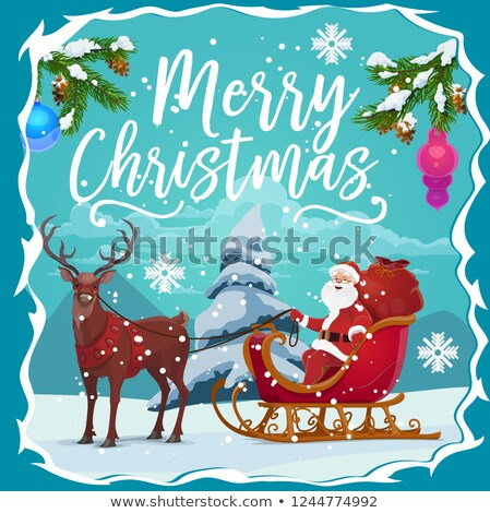 Alegre Navidad papá noel traje rojo religión Foto stock © vector1st